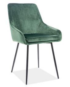 Jídelní čalouněná židle ALBI velvet zelená/černá