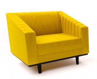 Čalouněné křeslo ASPREY 1 velvet žlutá