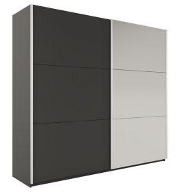 Šatní skříň VALERIANO 225 černá/černá