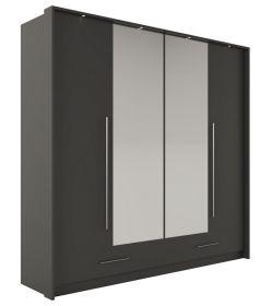 Šatní skříň DOLETO 210 grafit/grafit