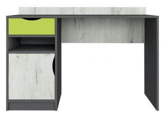 Psací stůl DISNEY dub kraft bílý/šedý grafit/limeta