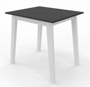 Jídelní stůl CARLOS 80x80 bílá/černá