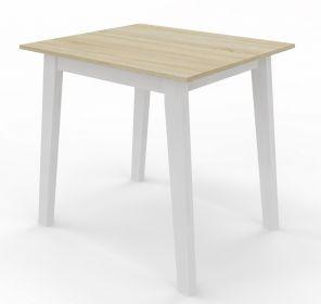 Jídelní stůl CARLOS 80x80 bílá/dub sonoma