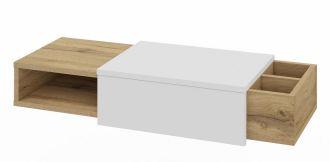 Konzolový stolek ROBIN dub wotan/bílá lesk