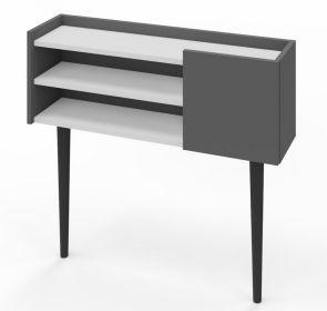 Konzolový stolek KELLY antracit/bílá