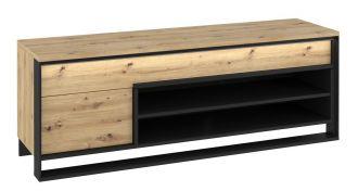 Televizní stolek KVANTA 04 dub artisan/černá