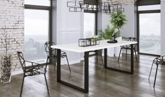 Jídelní stůl PILGRIM 185x67 cm černá/bílá