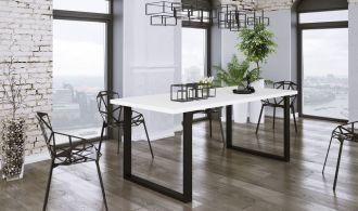 Jídelní stůl PILGRIM 138x90 cm černá/bílá