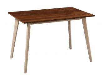 Jídelní stůl CABERNET ořech/bílá