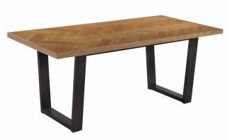 Jídelní stůl PARKET 180x90 cm ořech/černá