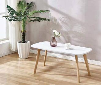 SKY konferenční stolek bílá/buk