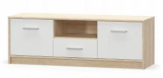 Tv stolek 2D1S TIPS dub sonoma/bílá mat