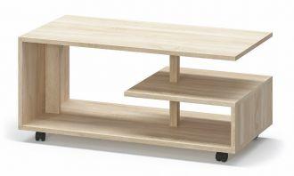 Konferenční stolek na kolečkách TURIN sonoma