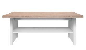 Konferenční stolek LENIX, barva sonoma/bílá