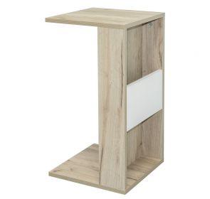 Konferenční stolek LAIT dub kraft šedý/bílá
