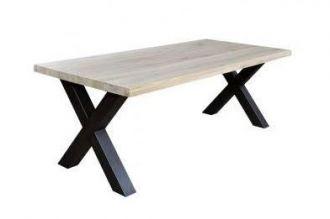Jídelní stůl SENTORO 160x90 sonoma/černý