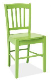 Jídelní dřevěná židle CD-57 zelená
