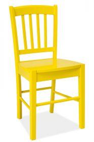 Jídelní dřevěná židle CD-57 žlutá