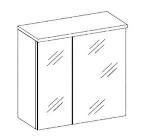 Skříňka se zrcadlem PORTO bílá
