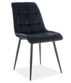 Jídelní čalouněná židle CHIC VELVET černá/černá