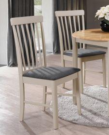 Jídelní čalouněná židle LYON bílá lazura/šedá