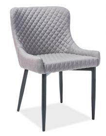 Jídelní čalouněná židle COLIN B šedá/černá
