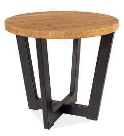 Konferenční stolek CONO C dub masiv/černá