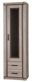 Vitrína 1-dveřová pravá DALLAS D-16 výběr barev