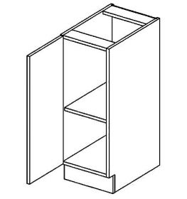 D30L dolní skříňka jednodvéřová PREMIUM de LUX olše