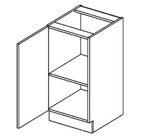 D40L dolní skříňka jednodvéřová PREMIUM de LUX olše