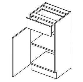 D40S/1 dolní skříňka jednodvéřová s 1 zásuvkou, levá, BIANCA