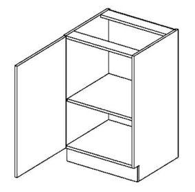 D50L dolní skříňka jednodvéřová PREMIUM de LUX hruška