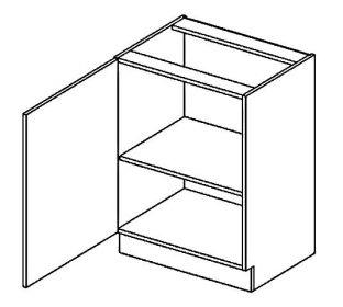 D60 dolní skříňka jednodvéřová levá PAULA šedá/mocca