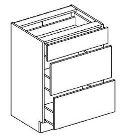 D60S3 dolní skříňka se zásuvkami PREMIUM de LUX olše