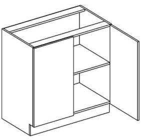D80 dolní skříňka dvoudvéřová NORA de LUX hruška