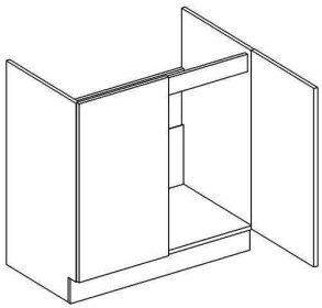 D80ZL dolní skříňka pod dřez NORA de LUX hruška