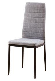 Jídelní čalouněná židle HRON V šedá/černá