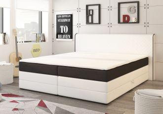 Postel s matrací a ÚP DETROIT 180x200cm (PURbílá/černá)