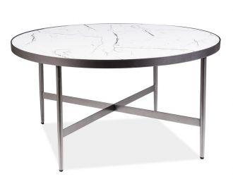 Konferenční stolek DOLORES B bílý mramor/šedá