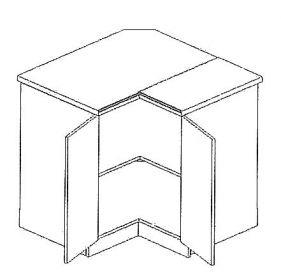 DRP dolní rohová skříňka DARK BIS