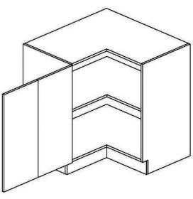 DRPL dolní skříňka rohová NORA de LUX 90x90 cm hruška