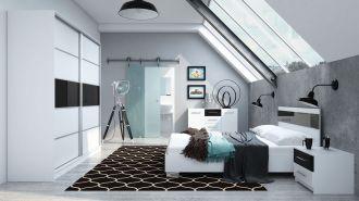 Ložnice DUBAJ C postel+komoda+skříň+noční stolky