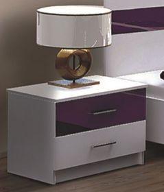 Noční stolek DUBAJ fialový