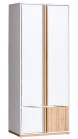 Šatní skříň EVADO E1 bílá/ořech