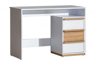Pracovní stůl EVADO E14 bílá/ořech
