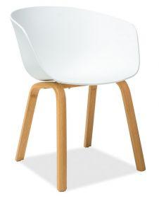 Jídelní židle EGO bílá/dub