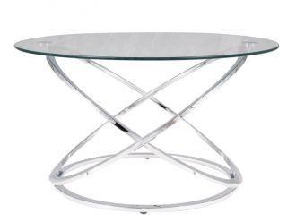 Konferenční stolek EOS B chróm/sklo