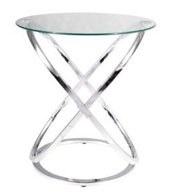 Konferenční stolek EOS C chróm/sklo