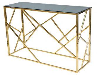 Konzolový stolek ESCADA C zlatý kov/kouřové sklo