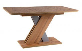 Jídelní stůl EXEL rozkládací 140x85 dub wotan/stříbrná